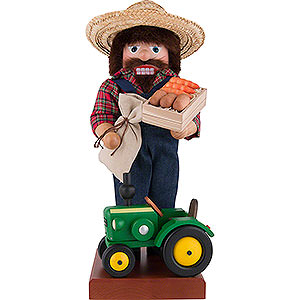 Nussknacker Berufe Nussknacker Farmer mit Traktor - 45,5 cm