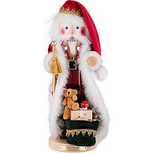 Nussknacker Weihnachtsmänner Nussknacker Gemütlicher Weihnachtsmann mit Musik - 49 cm