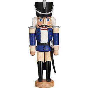 Nussknacker Soldaten Nussknacker Husar Esche lasiert blau - 28 cm