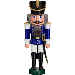 Nussknacker Soldaten Nussknacker Husar blau - 28 cm