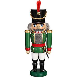 Nussknacker Soldaten Nussknacker Husar grün - 28 cm