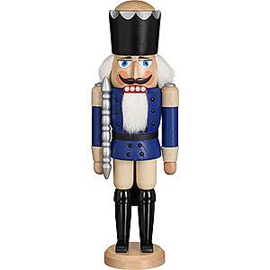 Nussknacker Könige Nussknacker König Esche blau lasiert - 39 cm