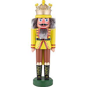 Nussknacker Könige Nussknacker König mit Krone gelbgrün matt - 43 cm