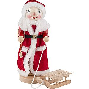 Nussknacker Weihnachtsmänner Nussknacker Mrs. Santa mit Schlitten - 36,5 cm