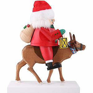 Nussknacker Weihnachtsmänner Nussknacker Santa auf Rentier - 26 cm