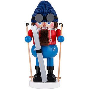 Nussknacker Skifahrer - 34 cm