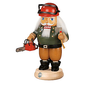 Nussknacker Berufe Nussknacker Waldarbeiter mit Motorsäge - 23 cm