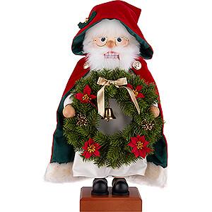 Nussknacker Weihnachtsmänner Nussknacker Weihnachtsmann Kranz - 45 cm