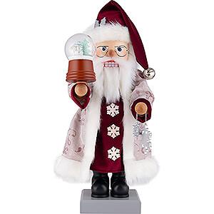 Nussknacker Weihnachtsmänner Nussknacker Weihnachtsmann Schneekugel - 47 cm