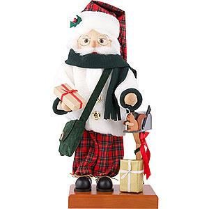 Nussknacker Weihnachtsmänner Nussknacker Weihnachtsmann Schottenkaro - 46,5 cm