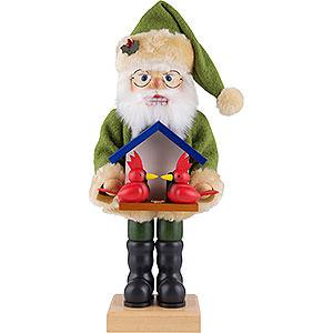 Nussknacker Weihnachtsmänner Nussknacker Weihnachtsmann Vogelfreund - 46,5 cm