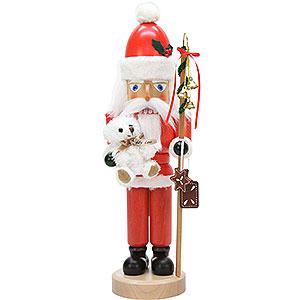 Nussknacker Weihnachtsmänner Nussknacker Weihnachtsmann mit Teddy lasiert - 42 cm