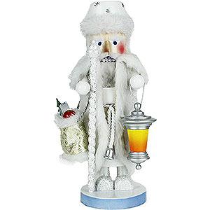 Nussknacker Weihnachtsmänner Nussknacker Weisser Weihnachtsmann - 45 cm