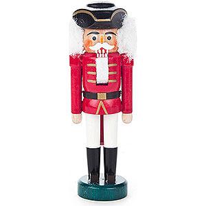 Nussknacker Soldaten Nussknacker mit Dreispitz rot-weiß - 13 cm