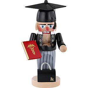 Nutcrackers Professions Nutcracker - Chubby Graduate Doctor - 30 cm / 11.8 inch