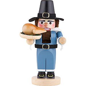 Nutcrackers Hobbies Nutcracker - Chubby Pilgrim with Turkey - 29,5 cm / 2 inch