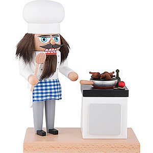 Nutcrackers Professions Nutcracker - Cook with Smoking Stove - 22 cm / 8.7 inch