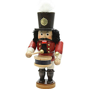 nutcracker drummer glazed 18 5 cm 7in by christian ulbricht. Black Bedroom Furniture Sets. Home Design Ideas