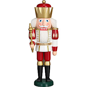 Nutcrackers Kings Nutcracker - Exclusive King White-Red - 40 cm / 15.7 inch