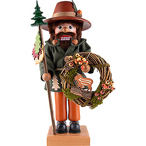 Nutcrackers Misc. Nutcrackers Nutcracker - Forest Man with Wreath - 47 cm / 18.5 inch