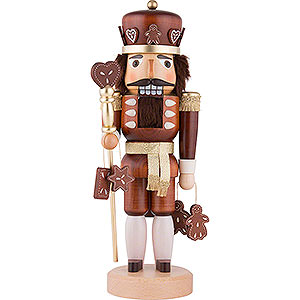 Nutcrackers Kings Nutcracker - Gingerbread King Natural Wood - 37,5 cm / 15 inch