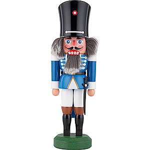 Nutcrackers Soldiers Nutcracker - Guard with Saber Blue - 26 cm / 10 inch