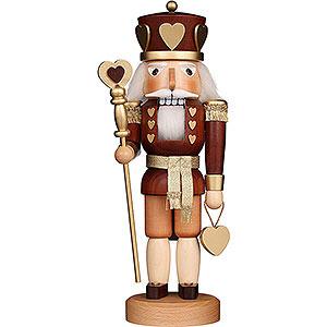 Nutcrackers Kings Nutcracker - Heart King Natural - 37,5 cm / 14.8 inch