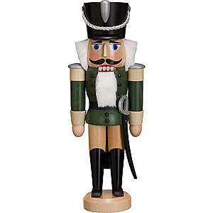 Nutcrackers Soldiers Nutcracker - Hussar - Ash - Green - 28 cm / 11 inch