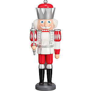 Nutcrackers Kings Nutcracker - King Exclusive White-Silver-Red - 40 cm / 15.7 inch