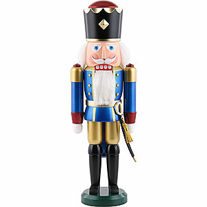 Nutcrackers Kings Nutcracker - King, Exklusive, Metallic Blue - 39 cm / 15.4 inch