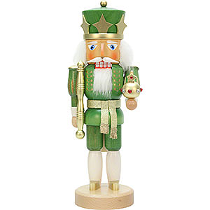 Nutcrackers Kings Nutcracker - King Green/Gold - 37,5 cm / 14.7 inch