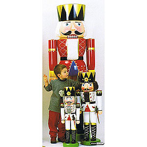 Nutcrackers XXL Nutcrackers Nutcracker - King Red - 180 cm / 71 inch