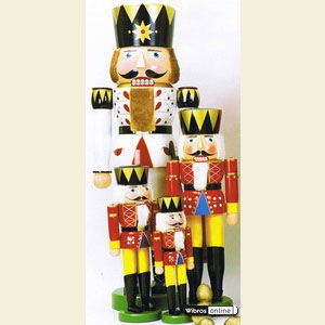 Nutcrackers XXL Nutcrackers Nutcracker - King White - 180 cm / 71 inch