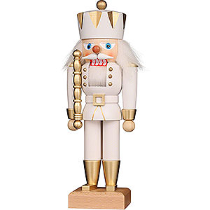 Nutcrackers Kings Nutcracker - King White/Gold - 27 cm / 10.6 inch