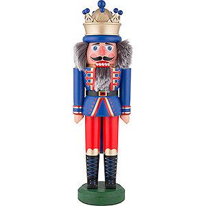 Nutcrackers Kings Nutcracker - King with Crown Blue Matt - 43 cm / 16.9 inch