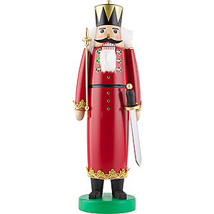 Nutcrackers Kings Nutcracker - King with Long Cloak and SWAROVSKI Crystals - 43 cm / 17 inch
