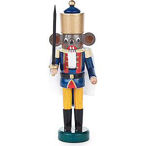 Nutcrackers Famous Persons Nutcracker - Mouse King Blue-Yellow - 14 cm / 5.5 inch