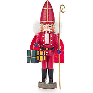 Nutcrackers Santa Claus Nutcracker - Nikolaus Red - 15 cm / 5.9 inch
