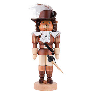 Nutcrackers Famous Persons Nutcracker - Puss in Boots Natural Wood - 37,5 cm / 15 inch