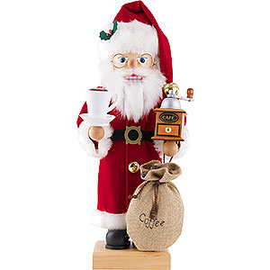 Nutcrackers Santa Claus Nutcracker - Santa Claus Coffee Lover - 46,5 cm / 18.3 inch