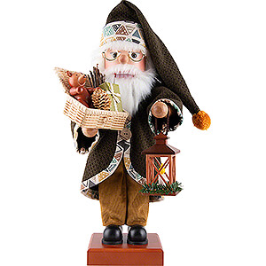 Nutcrackers Santa Claus Nutcracker - Santa Green with Basket - 48 cm / 18.9 inch