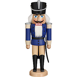 Nutcrackers Soldiers Nutrcakcer Hussar Glazed Blue - 37 cm / 14.6 inch