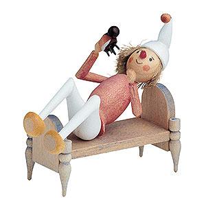 Kleine Figuren & Miniaturen Märchenfiguren Wilhelm Busch (KWO) Onkel Fritz im Bett - 7 cm