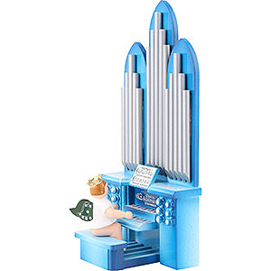 Angels Orchestra with crown (Ellmann) Organ with Angel with Crown and Musical Mechanism - 18,5 cm / 7.3 inch