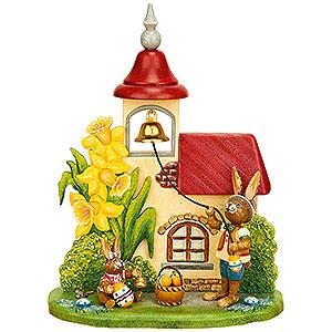 Kleine Figuren & Miniaturen Tiere Hasen Osterglockenläuten - 14x18 cm