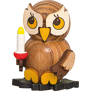 Small Figures & Ornaments Kuhnert Mini Owls Owl Child with Candle - 4 cm / 1.6 inch