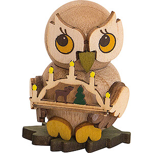 Small Figures & Ornaments Kuhnert Mini Owls Owl Child with Candle Arch - 4 cm / 1.6 inch