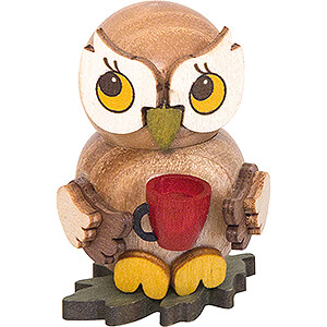 Small Figures & Ornaments Kuhnert Mini Owls Owl Child with Cup - 4 cm / 1.6 inch