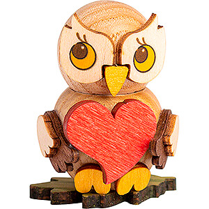 Gift Ideas Mother's Day Owl Child with Heart - 4 cm / 1.6 inch