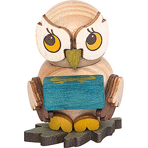 Gift Ideas Birthday Owl Child with Present - 4 cm / 1.6 inch